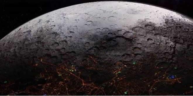 Hologram, hides the true face of the Moon
