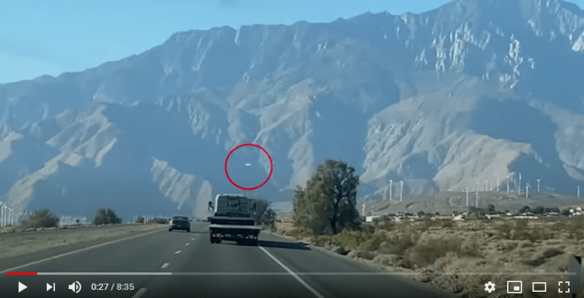 Huge UFO is spotted over Mount San Jacinto, California
