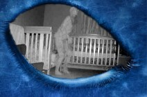 Webcam records an Alien entity next to a little girl's bed