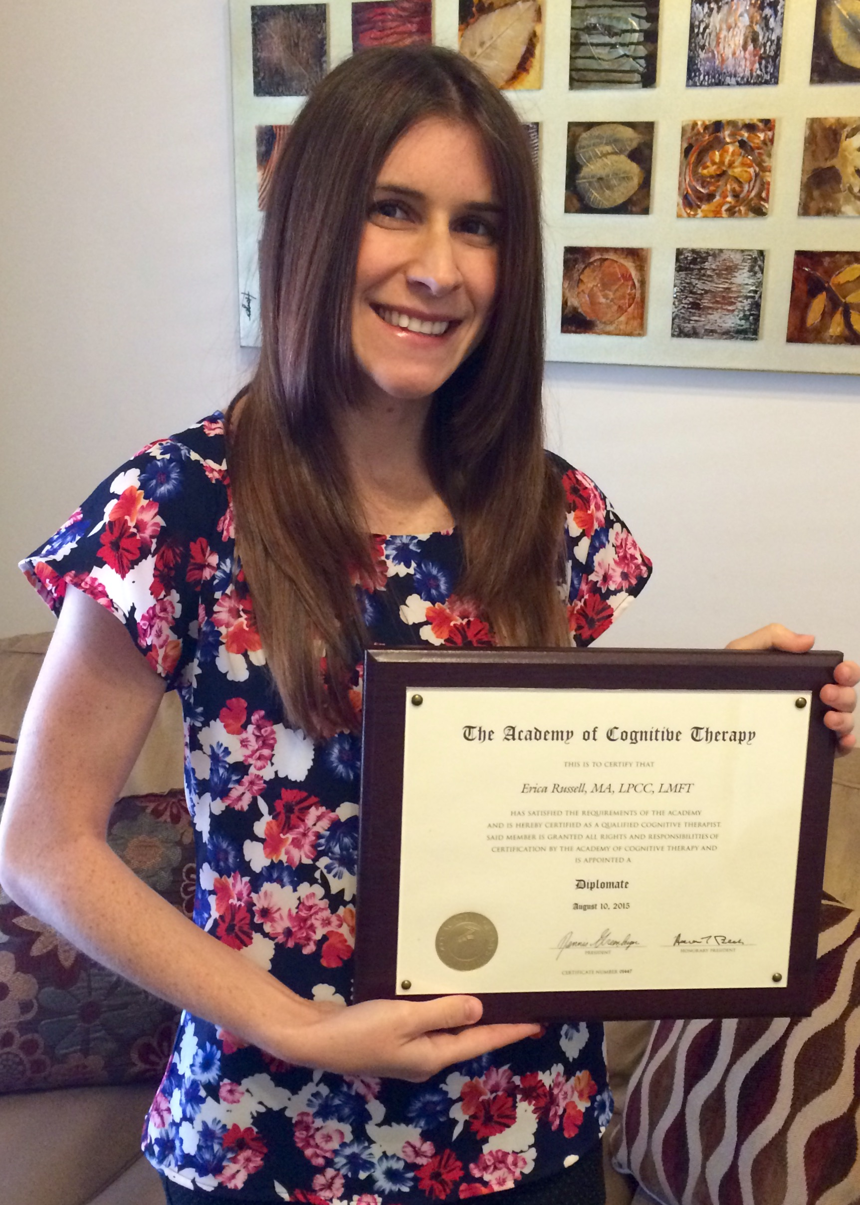 Our Newest Certified Cognitive Therapist