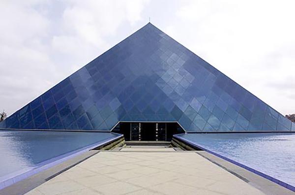 Infosys pyramid in Bangalore, India. (Credit: Infosys)