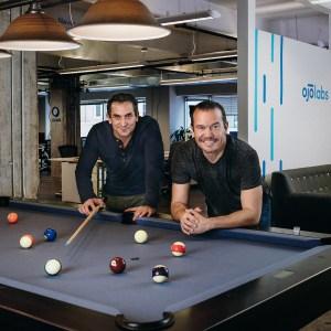 OJO Labs CEO John Berkowitz (l) with David Rubin