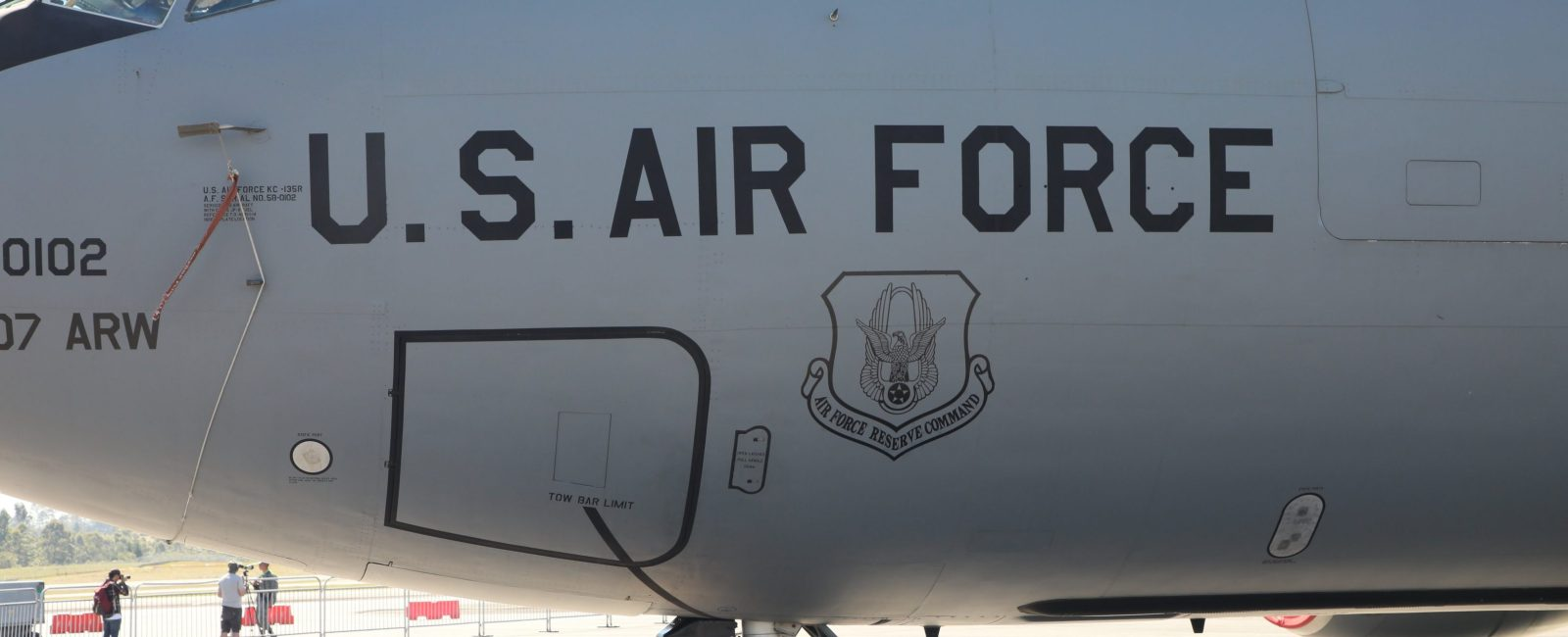 US Air Force KC135R On Tour in Medellín, Colombia (Photo Credit, Loren Moss)