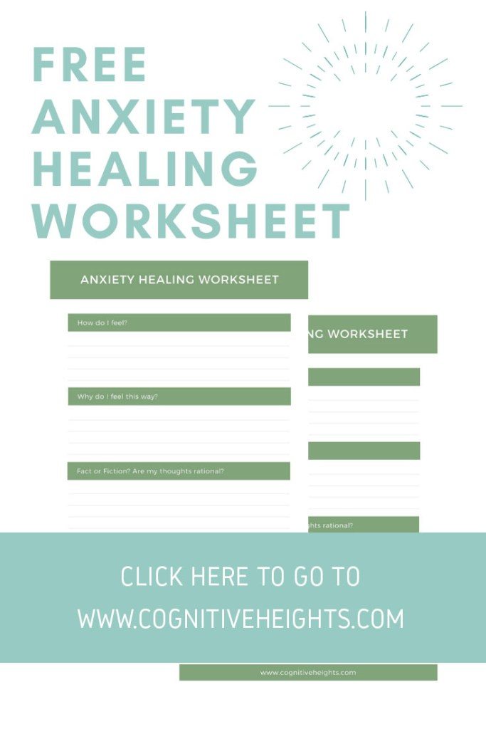 Free anxiety healing worksheet. Click here to go to the blog!