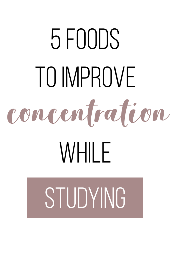 5 foods to improve concentration while studying