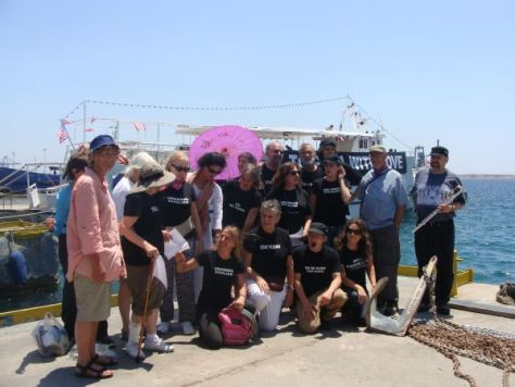 Passengers of The Audacity of Hope, Freedom Flotilla in Greece 2011. Photo by Mya Guarnieri