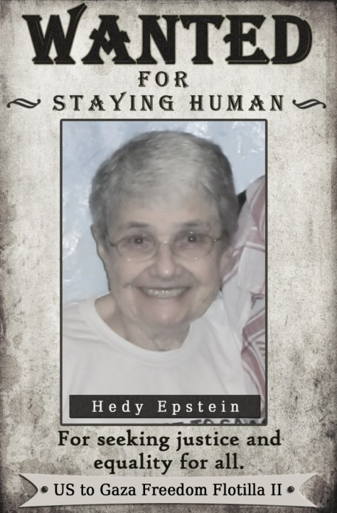 Hedy Epstein, Audacity of Hope passenger, wanted by Congress for staying human.