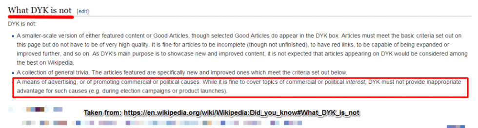 Did You Know Wiki Rules