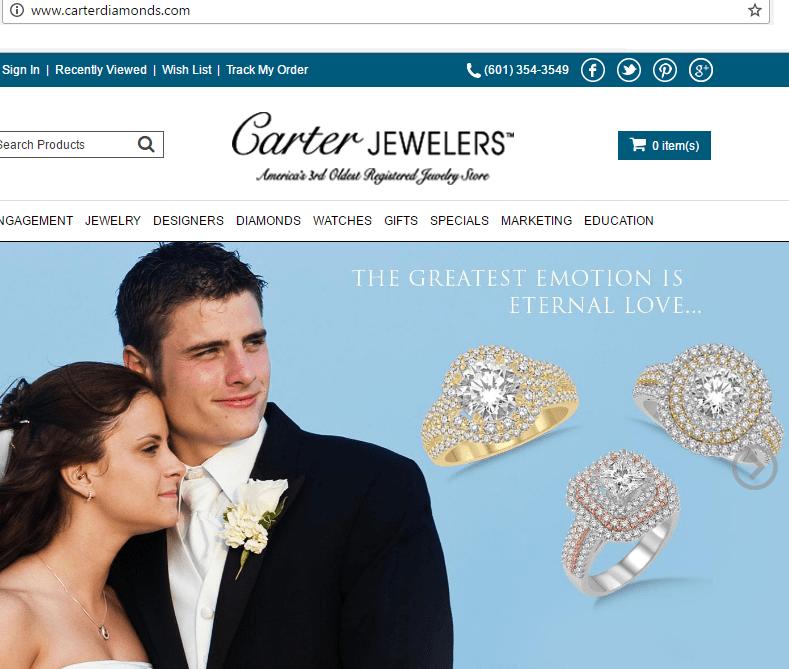 Carter diamonds website
