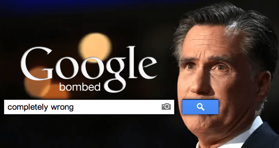Google bombing Romney-Completely-Wrong