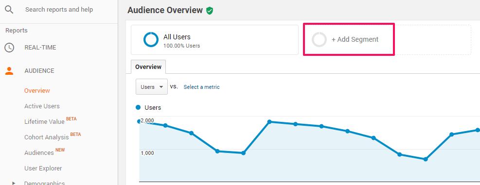 Add segment in Analytics