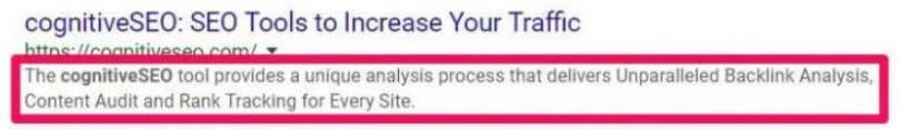 meta description search result 50%