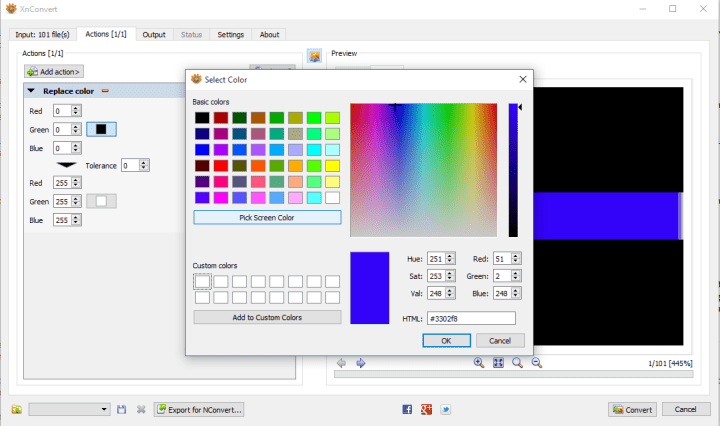 xnconvert colors