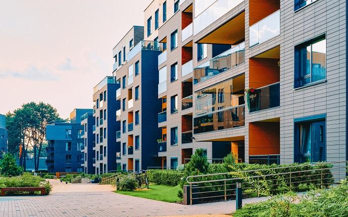 Modern development of apartments