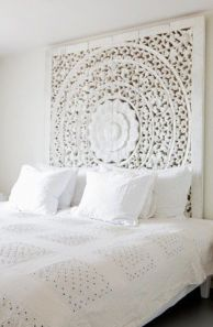 Moroccan inspired headboard-full of detail