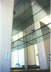 Mirror and Stack Shelf Wet Bar