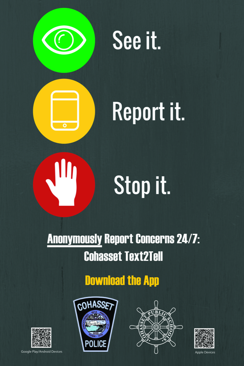 Tips - Cohasset Police Department