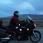 Chad races towards Utah in the early morning hours.
