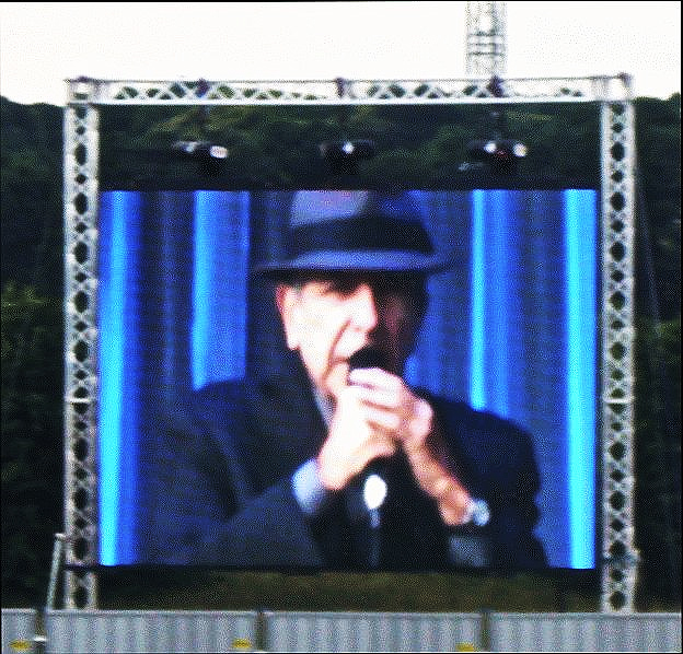 Leonard Cohen on screen - Dublin 2008