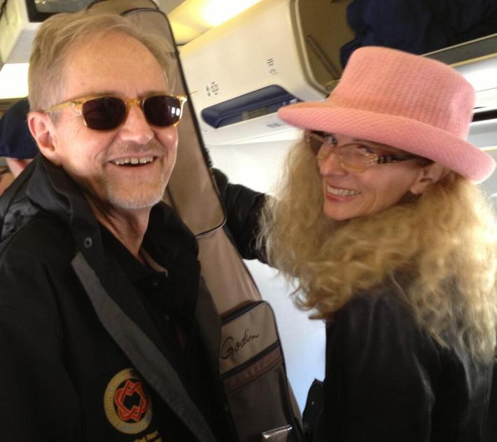 """Neil Larsen and his old lady"" posted Nov 22, 2013 by Sharon Robinson via Twitter"