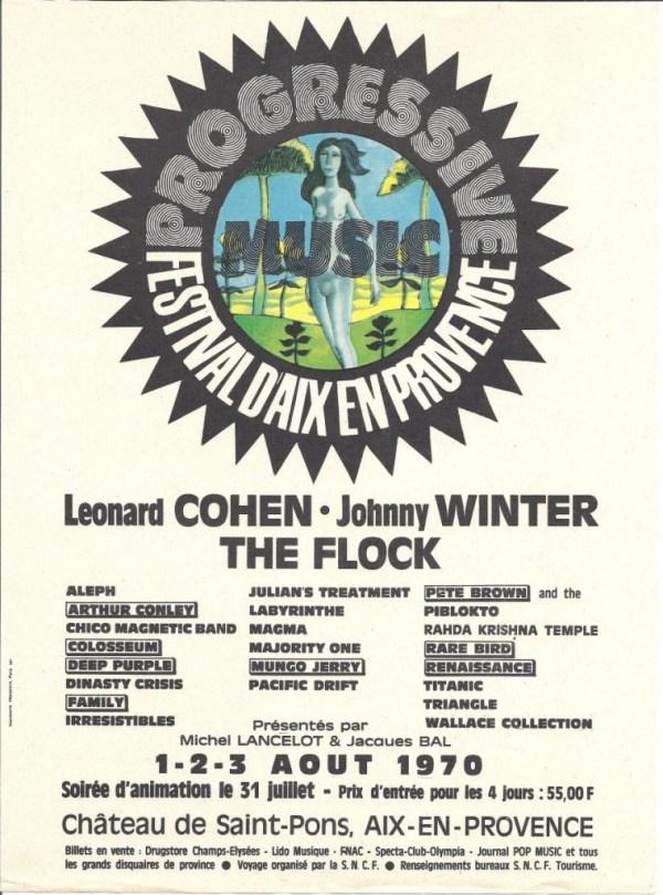 1970-08-02 Progressive Festival D'Aix En Provence - Handbill-900