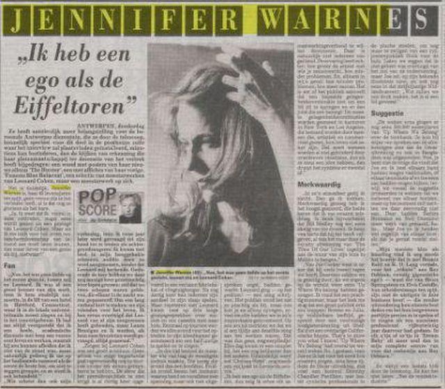 jennifer warnes image De Telegraaf December 24 1992 pixels_low