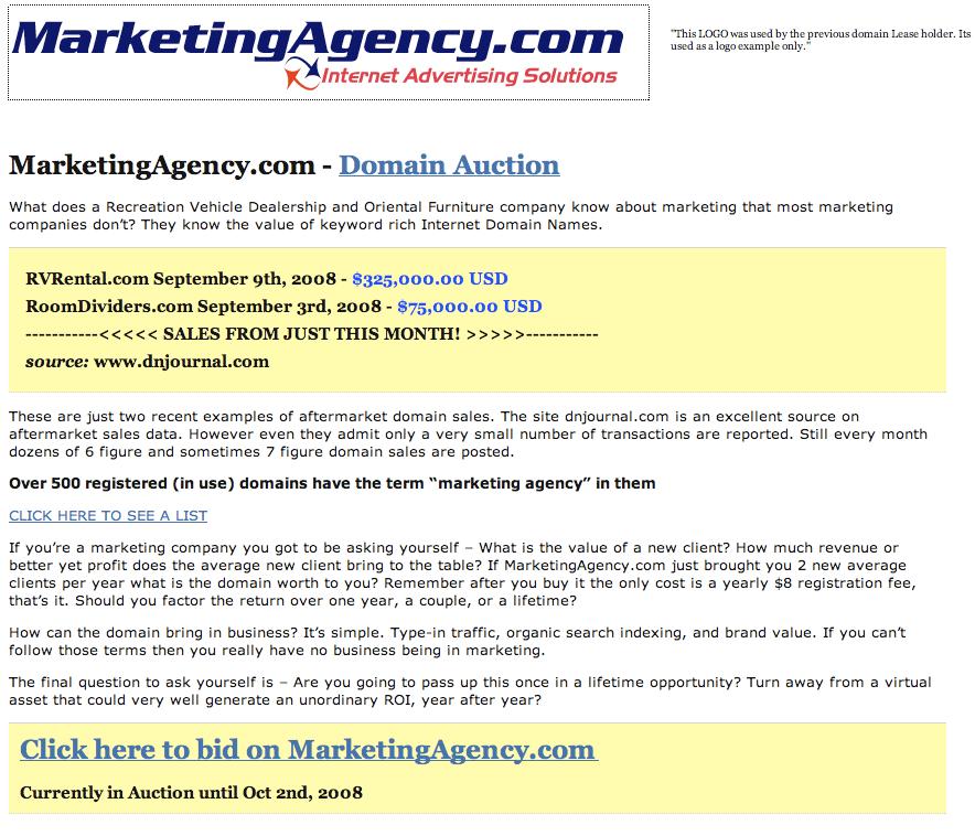 MarketingAgency.com Site