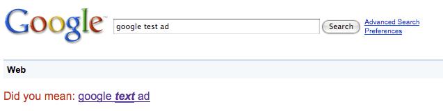 Google Test Ad