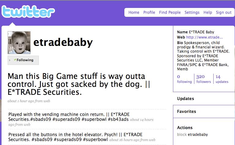 eTradeBaby Twitter Account