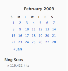 February 2009 Total Blog Traffic