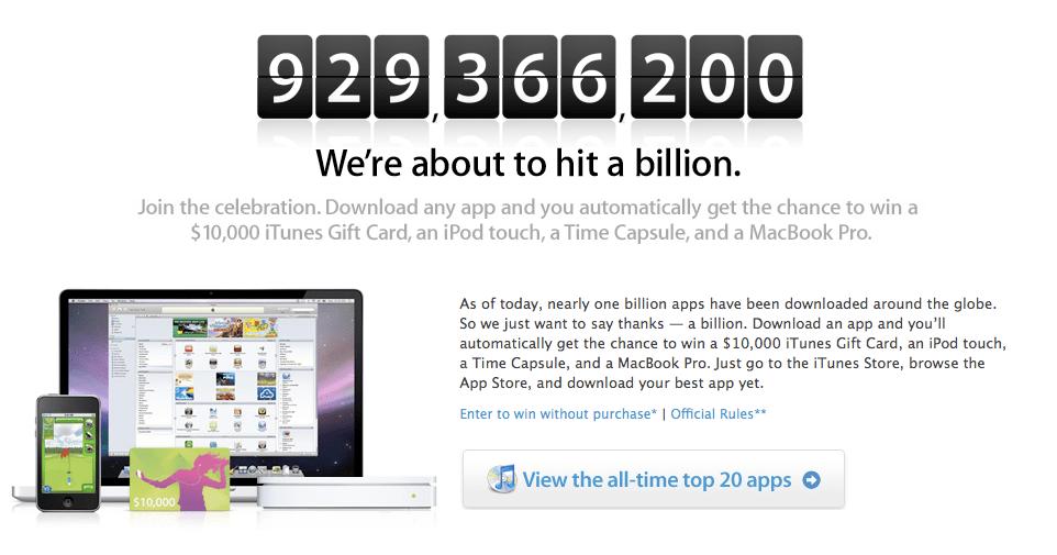 One Billion Apps