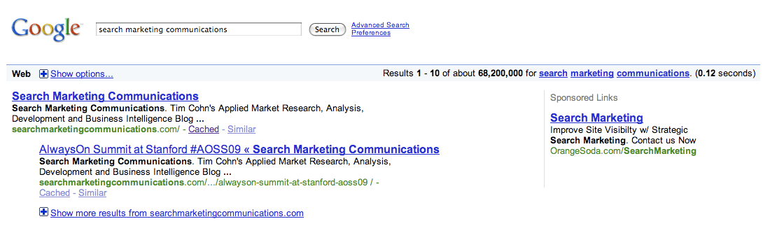 Google Show More Results