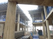 Woodside Square Cohousing units construction in progress