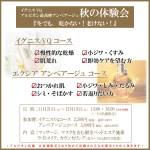 11/21-12/19 秋のエステ体験会のご案内