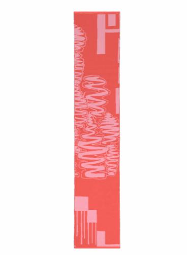 Merino Scarf: Spicy Papaya & Bubblegum Pink