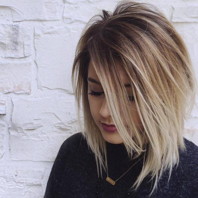 Cheveux Mi Longs Dgrades Avec Magnifiques Couleurs