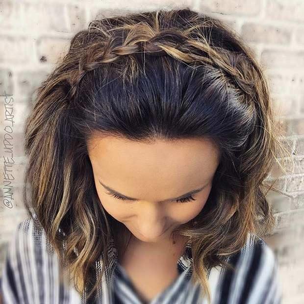 30 Modles De Coiffure Mariage Pour Cheveux Courts