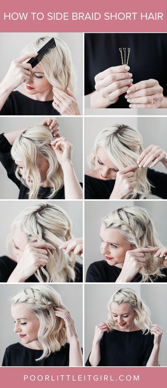 20 Ides De Coiffures Faciles Pour Les Cheveux Courts