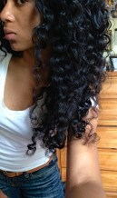 Long Peruvian curly twist out