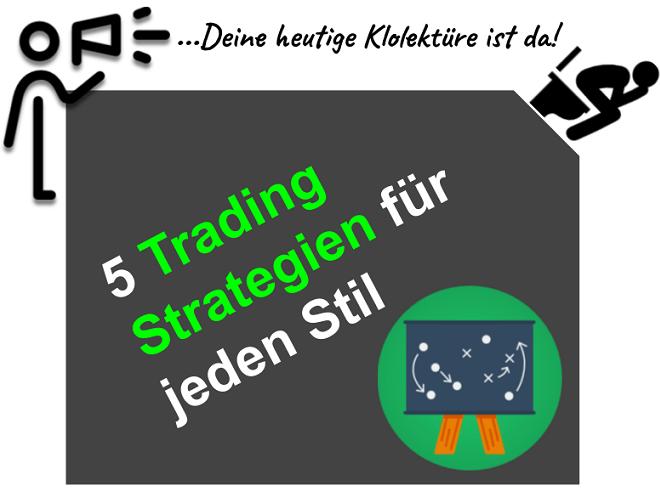5 erfolgreiche Trading Strategien zum nachhandeln