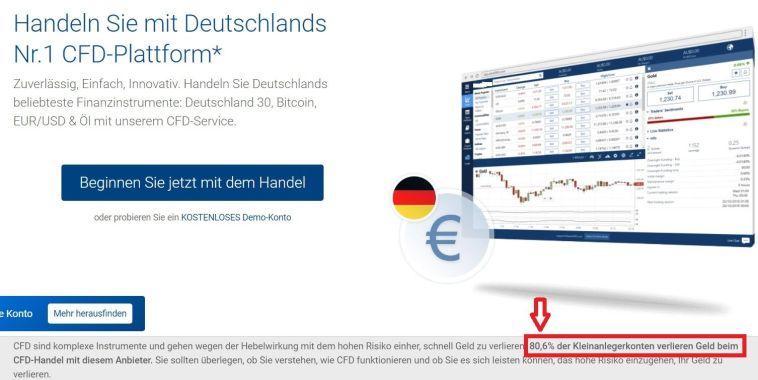 Trading Strategie für Anfänger CFD Broker Warnhinweis