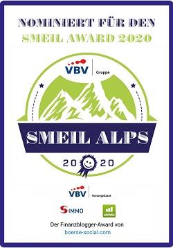 Nominiert Smeil Alps Finananzblogger-Award Ingmar Folk 2020