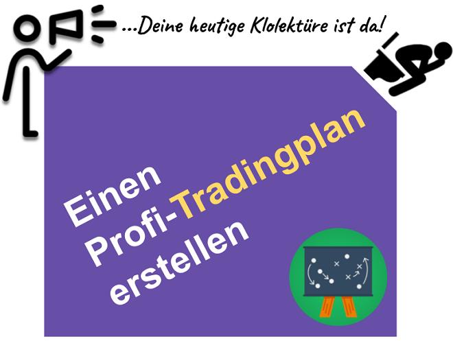 Ein professionelles Trading Plan Beispiel für private Trader