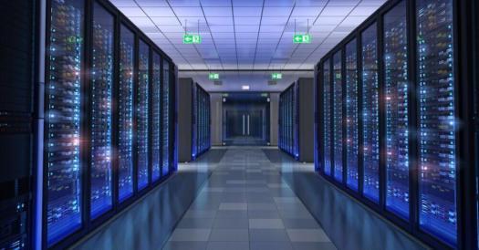 Ein Bitcoin-Serverraum