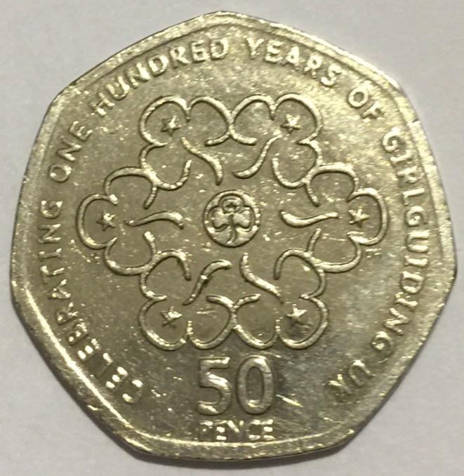 50 pence, Centenary of Girlguiding