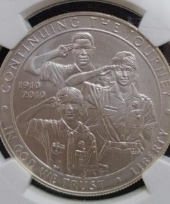 America one Dollar Boy scouts of America Ngc grading 69 grade Silver coins