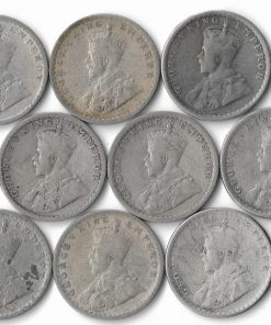 Half Rupee India 12 Coins Set all Different Dates1912,16,17,18,21,22,23,25,29,33,34,36- Lowest Price at Old Silver Rate