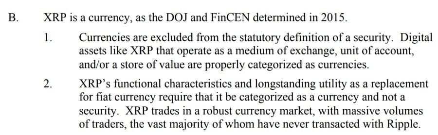Ripple SEC Counter Argument