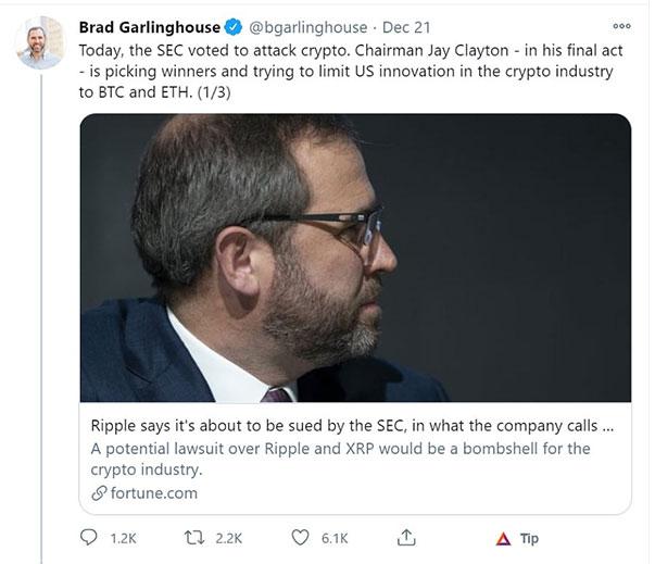 Garlinghouse SEC Tweet