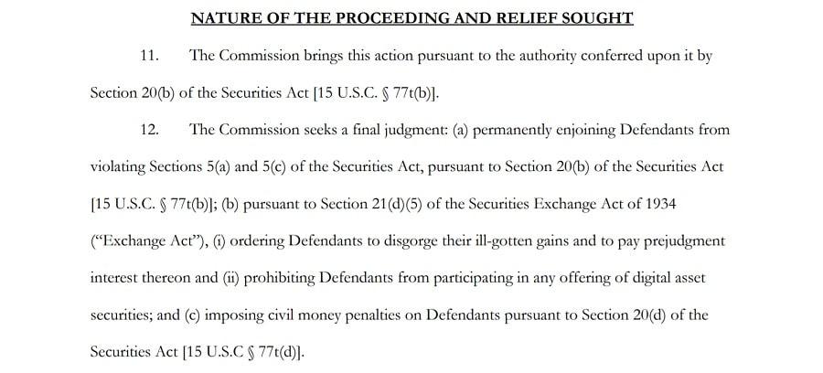 Ripple Lawsuit Demands